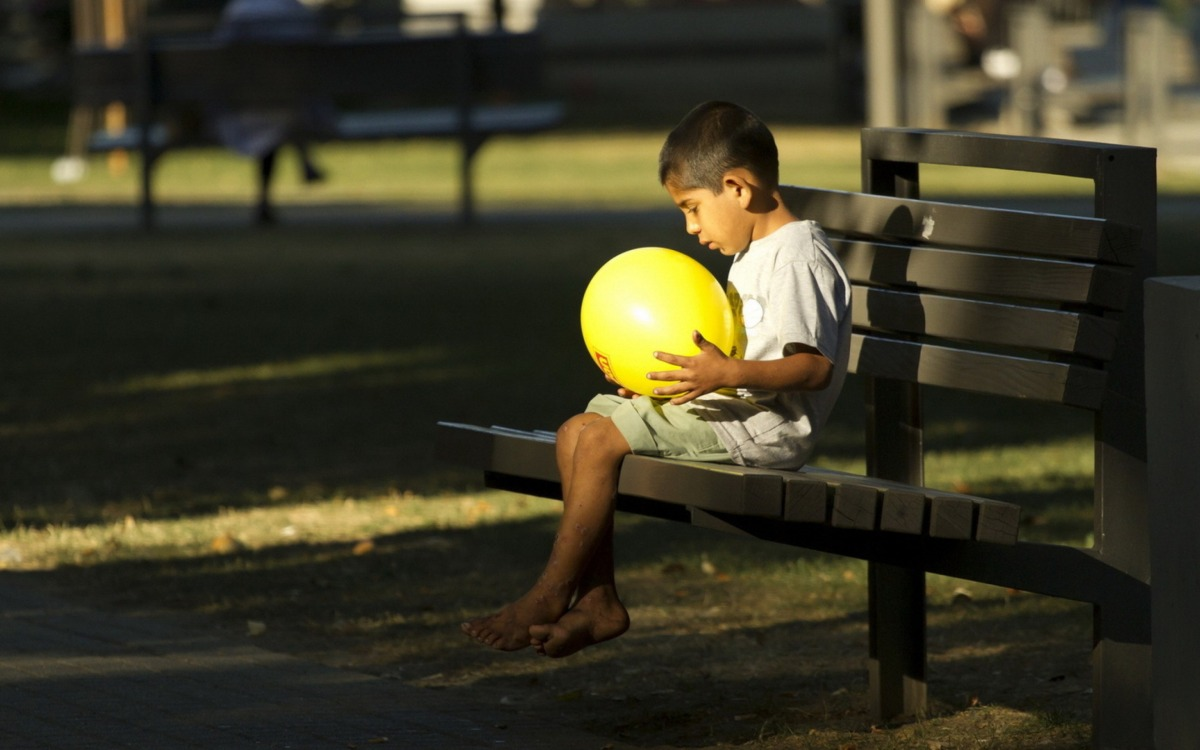 The boy on thebench